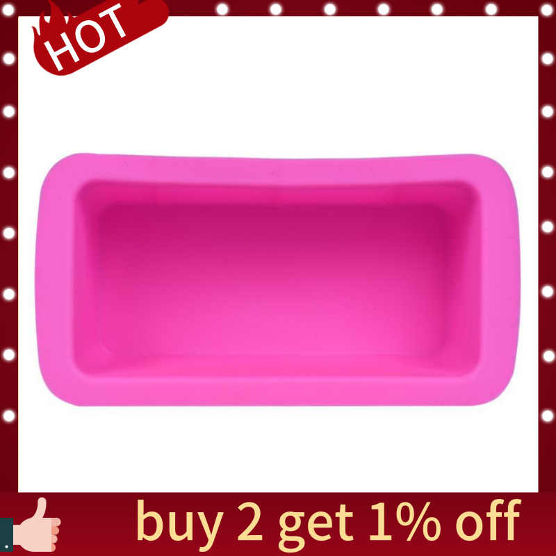 6-Cavity Plain Basic Rectangle Soap Mold Silicone Mould for Homemade Craft Set of 2