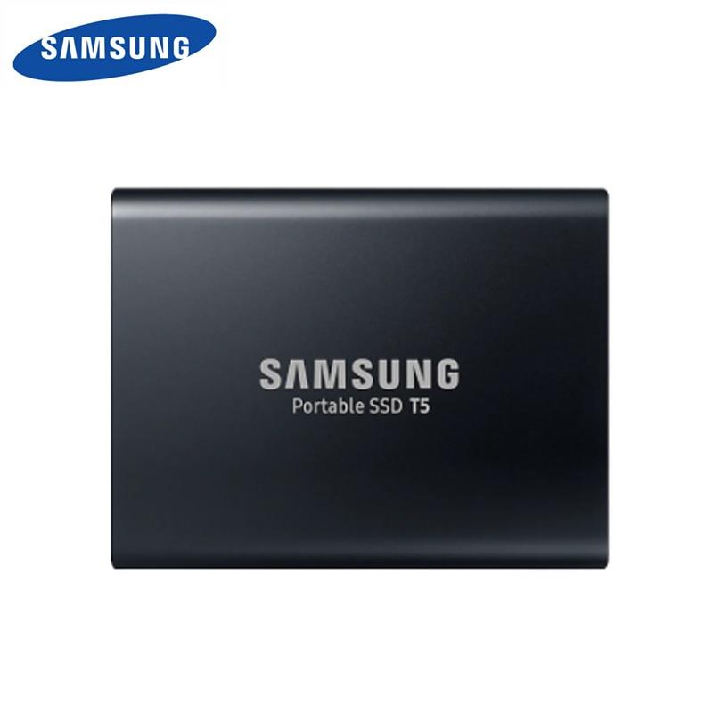 SAMSUNG T5 2TB 2.50″ USB 3.1 V-NAND Portable SSD MU-PA2T0B/AM