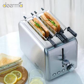 YOUPIN Deerma maszyna do pieczenia chleba elektryczny toster domowe automatyczne urządzenie do robienia śniadania Reheat Kitchen Grill piekarnik tanie i dobre opinie 501-800g CN (pochodzenie) 250 w 220 v May-15 305*280*285mm Nano-powłoka Deerma DEM - SL281 Scented Bread Toaster from Xiaomi Youpin