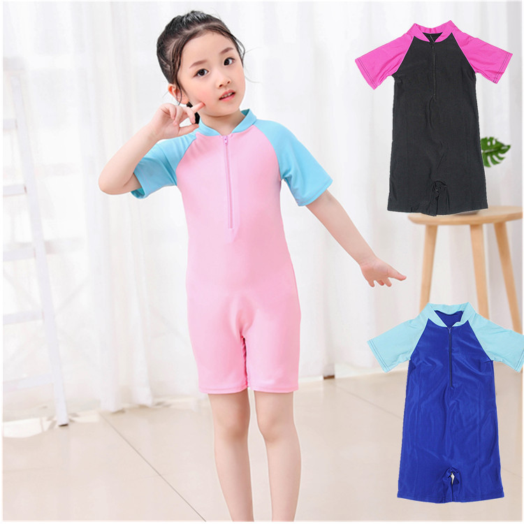 Girl'S One-piece Swimming Suit Children Crawling Clothes Baby Swimming Suit Muslim Conservative Bathing Suit Children Small CHIL
