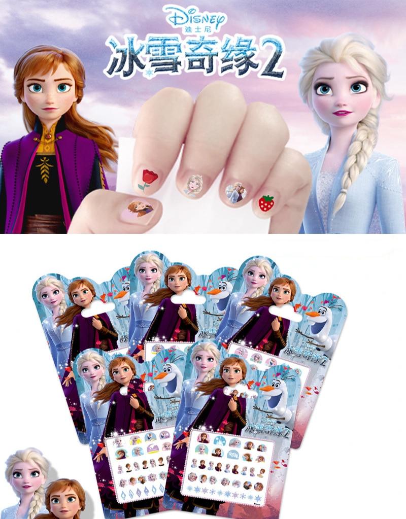 Disney  Frozen 2  Princess Elsa Anna  Nail Stickers  Snow White  Sophia Mickey Minnie Kids Make Up Sticker  Gift