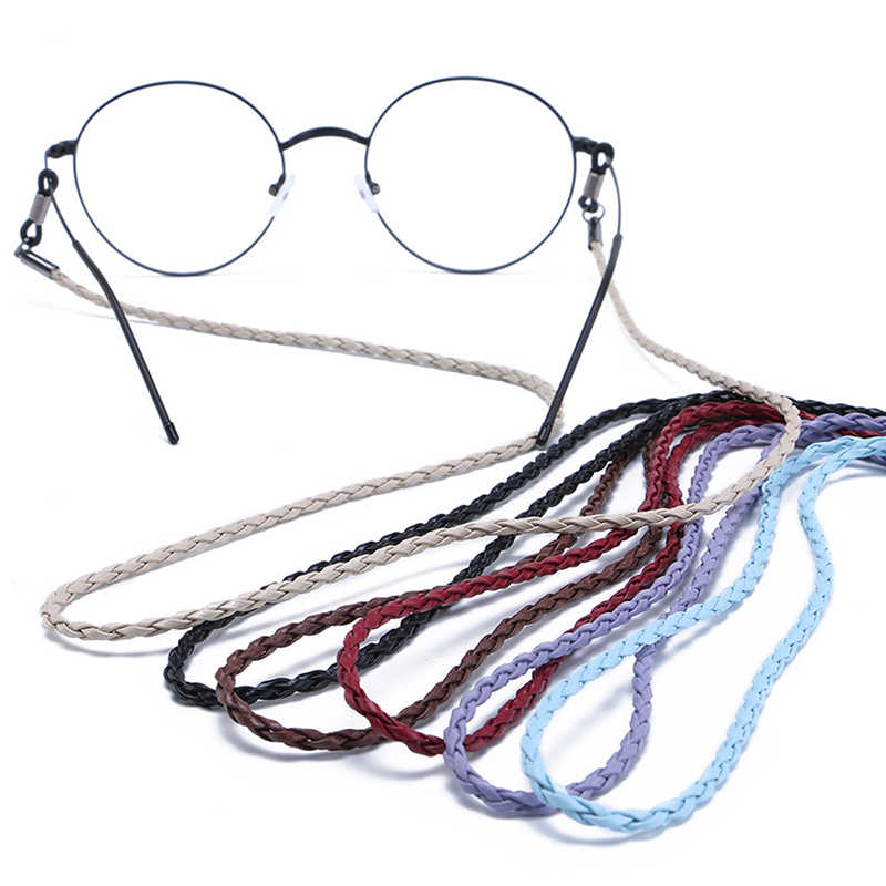 Colorful Leather Glasses Neck Strap String Rope Band 4 Colors 1Pcs New Leather Eyeglass Cord Adjustable End Glasses Holder