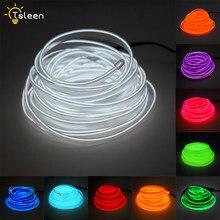 3 V/5 V/12 V EL cable con 7,5mm Borde de costura Led Luz de tira de decoración del coche tubo de cuerda de luz Flexible con tiras LED de neón para fiesta