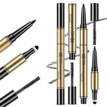 New design Eyebrow Pen Waterproof Fork Tip Eyebrow Tattoo Pencil Long Lasting Professional Fine Sketch Liquid Eye Brow Pencil(China)