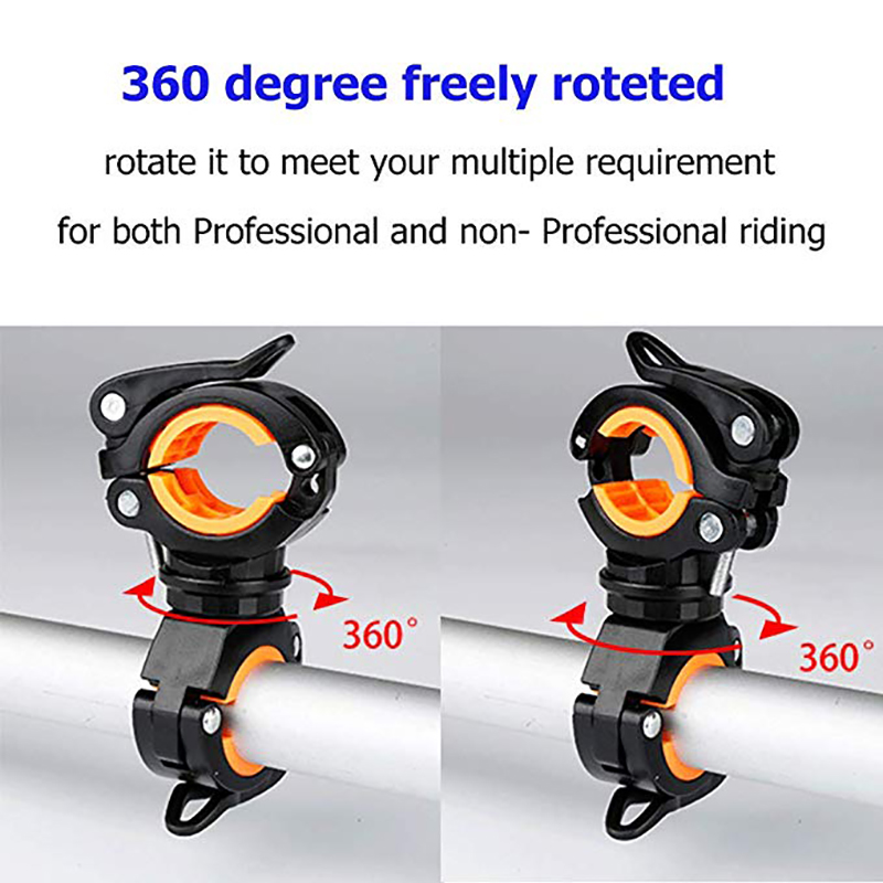 360 Degree Cycling Bicycle Bike Mount Holder For Led Flashlight Torch Clip /_ OI