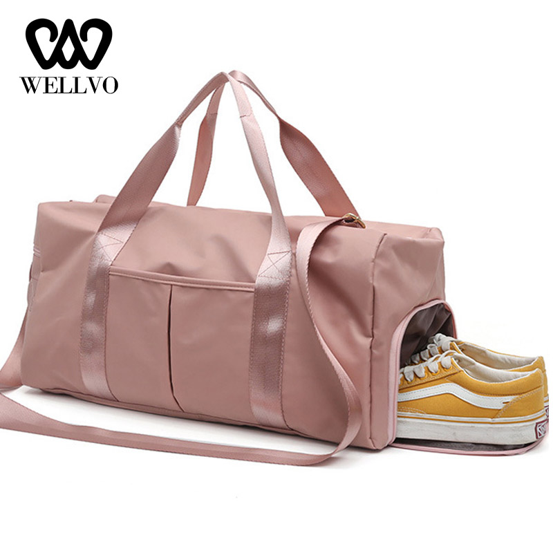 Fashion Large Capacity Shoulder Bags For Women Shoes Tas Fitness Bags Waterproof Nylon Bags Dry Wet Women Handbags 2020 XA635WB