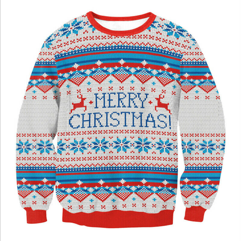 2019 Santa Claus Xmas Patterned Sweater Ugly Christmas Sweaters Tops Men Women Funny Pullovers Blusas Hot Fashion