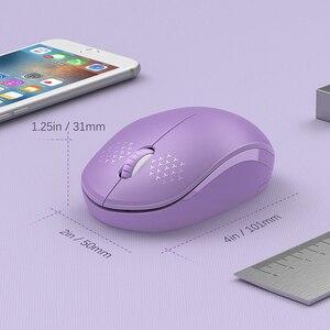 Image 5 - SeenDa Mini ratón inalámbrico silencioso haga clic en 2,4G inalámbrico ratón ergonómico Mouse silencioso para ordenador portátil óptico Mause USB