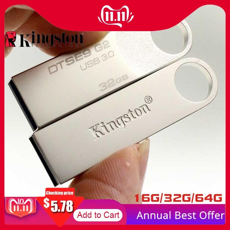 Kingston USB Flash Drive Usb-Stick 64GB 32GB 16GB Speicher Cle USB 3.0 Metall Stift stick Memoria U Stick flash Drive Pendrives U Disk
