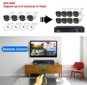 Image 2 - Hiseeu Kit de NVR POE de 8 canales, 5MP, H.265, sistema de cámaras de seguridad, cámara IP de grabación de Audio AI, para exteriores, impermeable, P2P, juego de videovigilancia