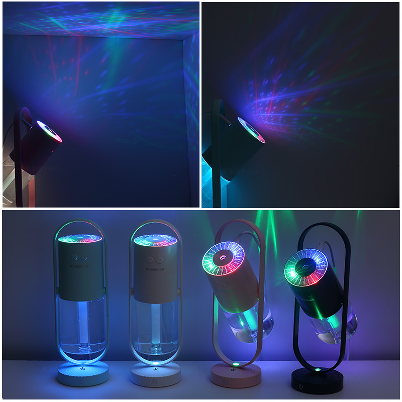 KBAYBO 200ML Electric ultrasonic air humidifier USB socket aromatherapy essential oil purifier with 7 colors LED lights