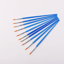 Fine Hand Painted Thin Hook Line Pen Blue Art Supplies Drawing Art Pen Paint Brush Nylon Brush Painting Pen 10 Pcs/Set(China)
