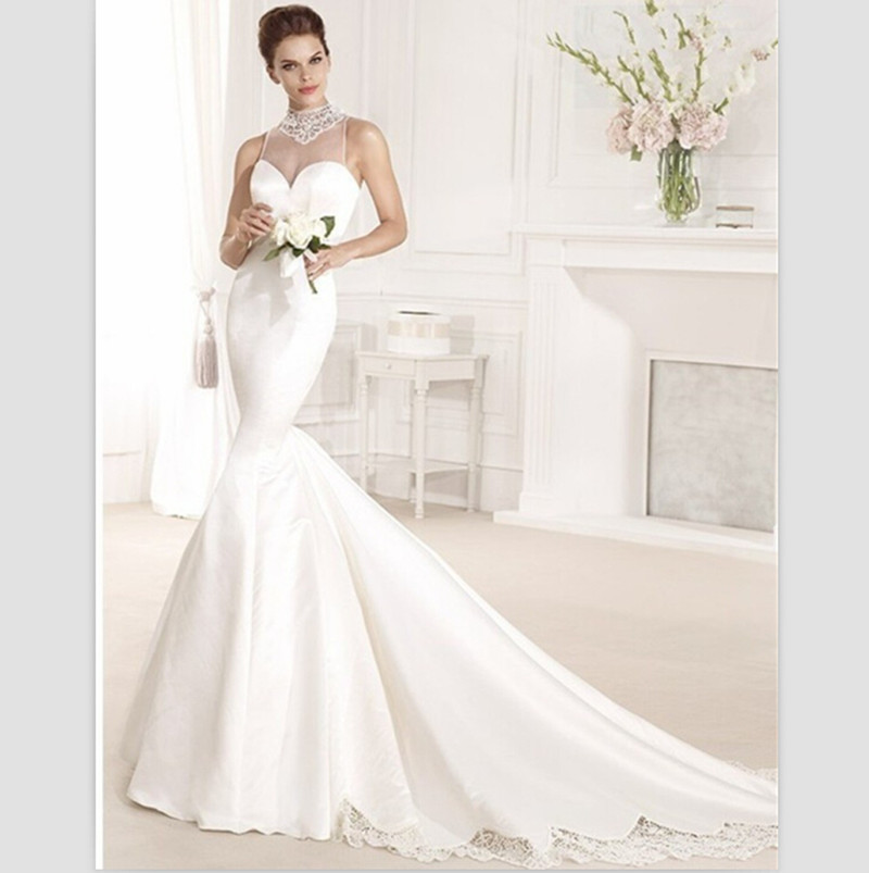 2018 Sexy Backless Mermaid New Long Train Lace Brides With Bow Custom Vestido Noiva Bridal Gown Mother Of The Bride Dresses