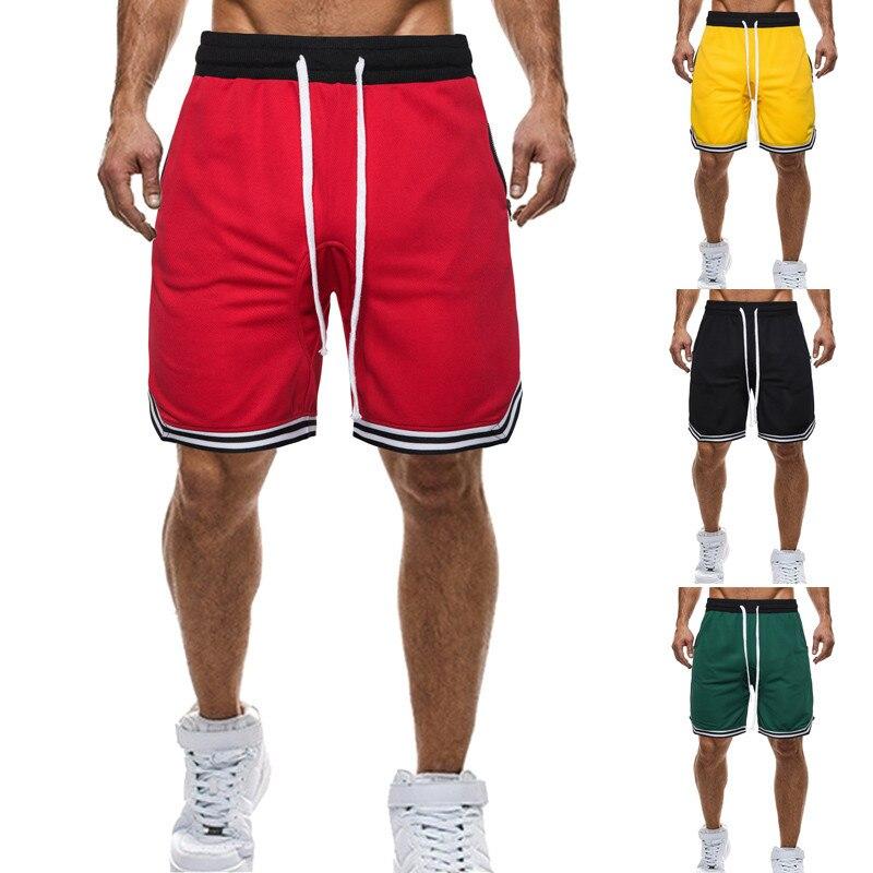 Summer Style Men's Basketball Shorts Fashion Casual Sports Plus-sized Lace-up Beach Shorts Men's Straight-leg Pants