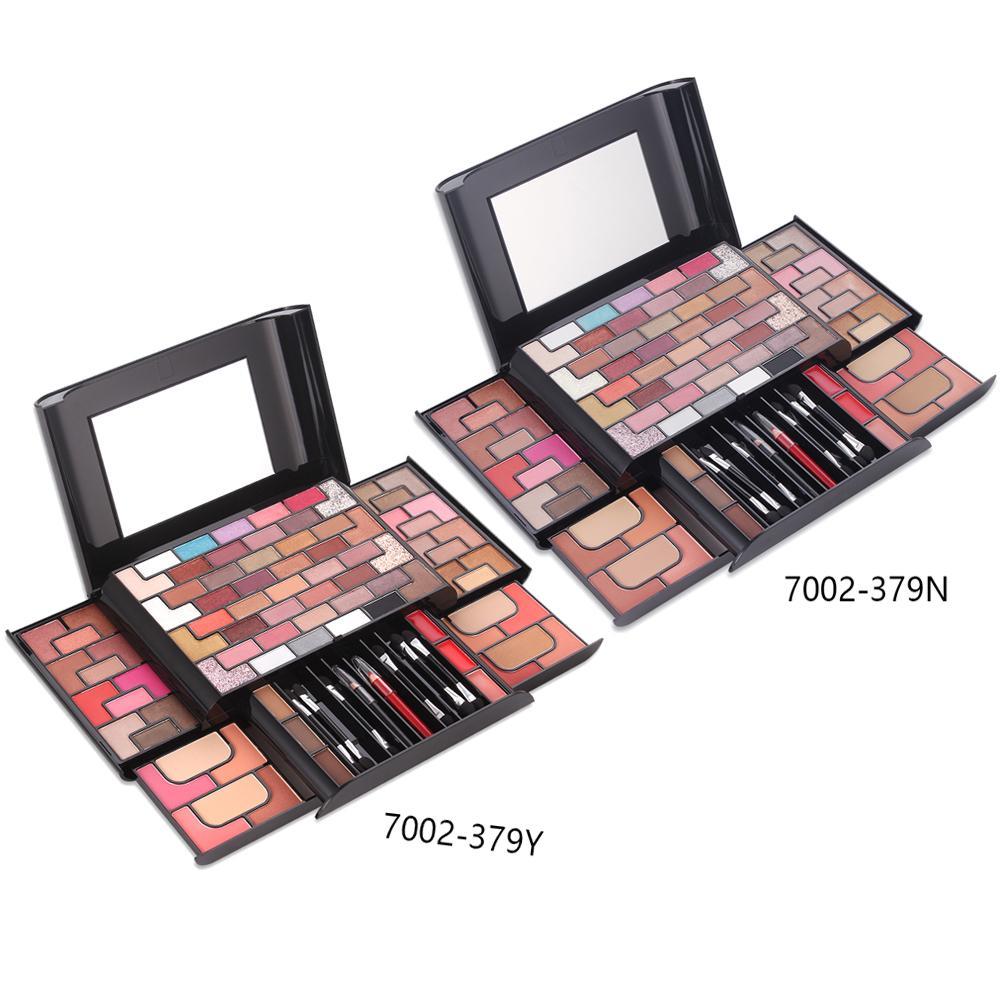 Hot Sell Gold Brick Maze Makeup 68 Color Eye Shadow 8 Color Blush 4 Color Powder 3 Color Eyebrow Powder Stage Makeup Makeup Set