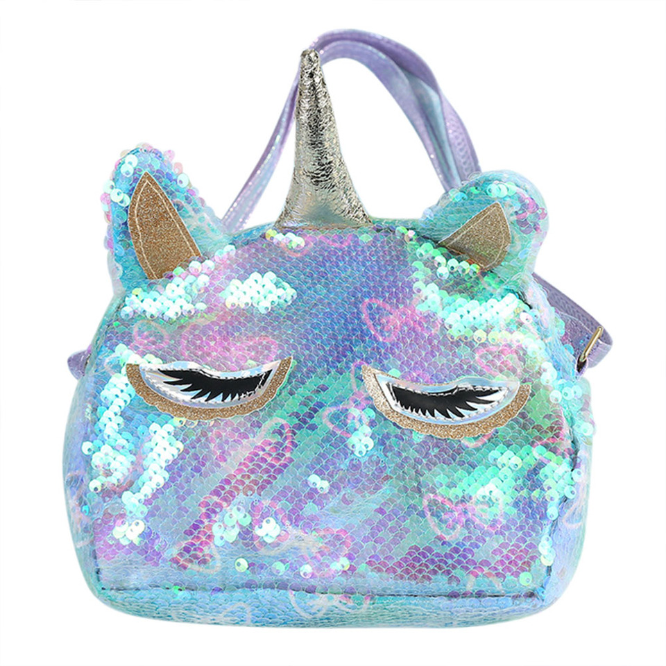 Wallet Handbag Crossbody Purse Kids Girls Unicorn Shoulder Bag Coin Purse New