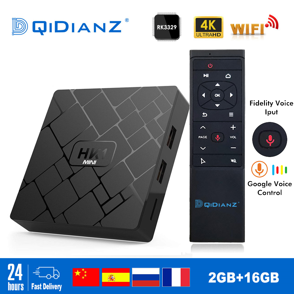 NEW,HK1 mini Smart TV BOX Android 9.0 <font><b>2GB</b></font>+16GB RK3229 Quad-Core WIFI 2.4G 4K 3D HK1mini Google Netflix Set-Top Box image