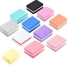 Sponge Nail-Buffer-Block Mini Polishing-Manicure-Tool Double-Side 10pcs Portable