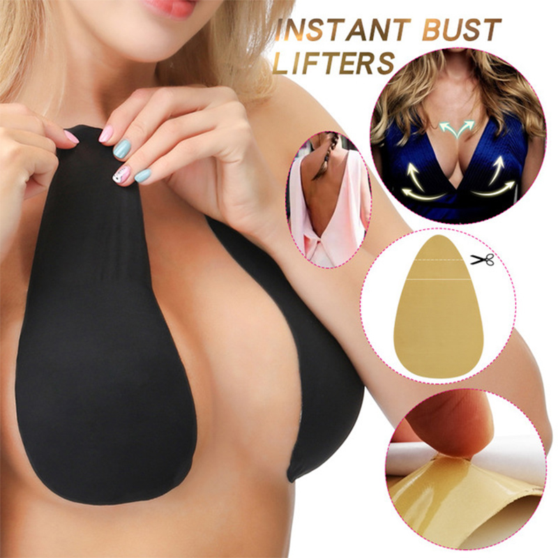 Silicone Push Up Invisible Bra Adhesive Nipple Cover Pasties Boob Breast Lift Tape Cache Teton For Bikini Instant Bust Lifter