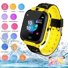 2021 Детские Смарт-часы водонепроницаемые детские SOS позиционирование 2G sim-карты анти-потерянные умные часы детский трекер умные часы для зво...