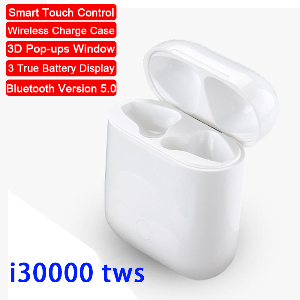 Real Battery Display <font><b>Wireless</b></font> Charging <font><b>Mini</b></font> i30000 <font><b>TWS</b></font> Earbuds Pop-ups <font><b>Smart</b></font> Touch Control <font><b>Bluetooth</b></font> <font><b>5.0</b></font> <font><b>Earphone</b></font> pk <font><b>i12</b></font> i80 <font><b>tws</b></font> image