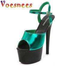 Ladies Shoes Summer 2021 Women Gladiator Stripper Heels Sexy Platform15 17 20 CM High Heels Modern Sandals Shoe for Party Club