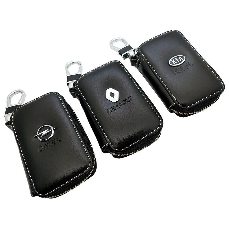 Leather Car Key Cover Key Case For Opel Citroen Kia Honda BMW Audi Mercedes Nissan Hyundai Toyota Skoda Lexus Kia Suzuki Peugeot