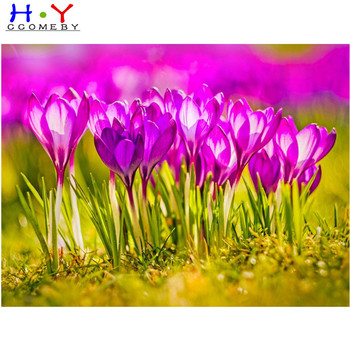 99% praise 5d diamond painting Pink flowers full drill square diamond embroidery Cross stitch pictures of rhinestones Wedding image