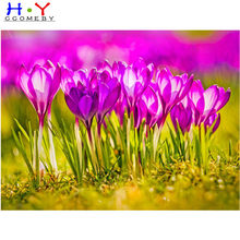 99% praise 5d diamond painting Pink flowers full drill square diamond embroidery Cross stitch pictures of rhinestones Wedding(China)