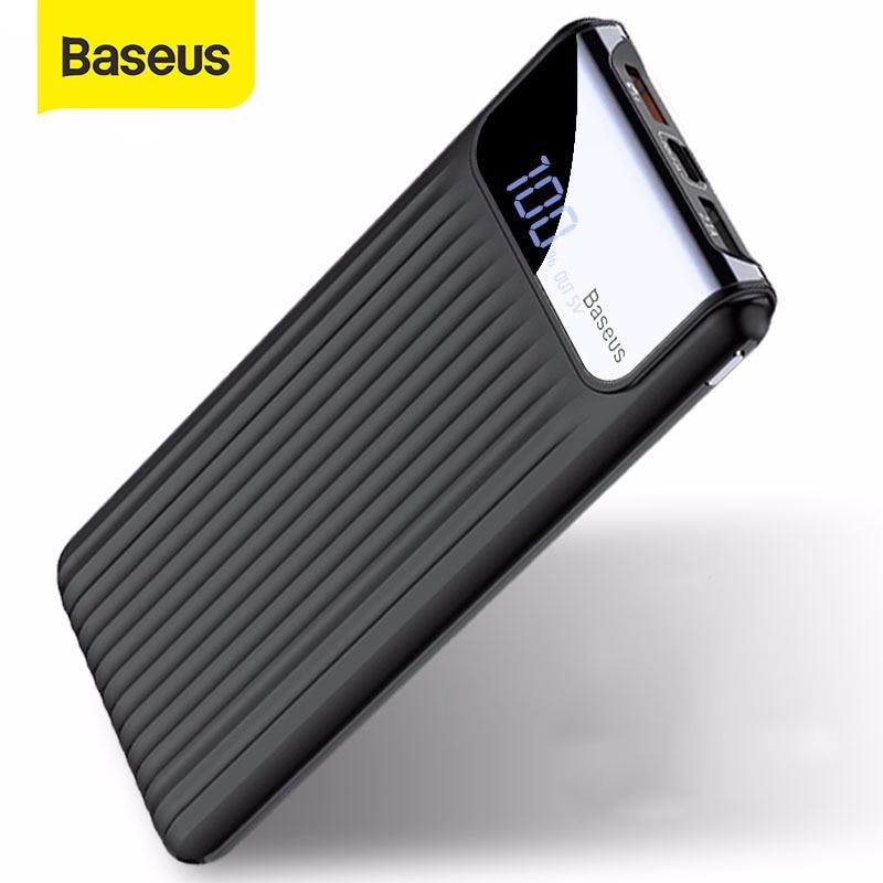 Внешний аккумулятор Baseus 10000 мАч Quick Charge 3,0 USB QC3.0, портативное зарядное устройство с цифровым дисплеем|powerbank battery charger|power bank chargerbank charger | АлиЭкспресс