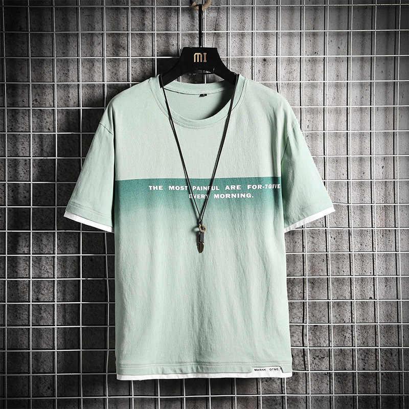 Koszulka męska z krótkim rękawem Streetwear moda O szyi w
