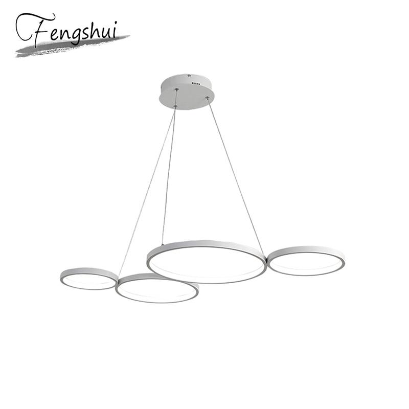 Modern LED Pendant Lights Lamp Aluminum Pendant Lighting Living Room Cafe Dining Room Kitchen Bedside Bedroom Loft Hanging Lamp