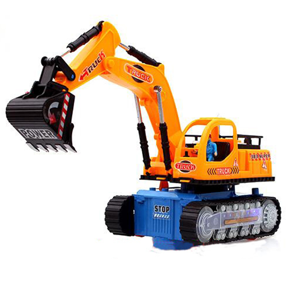 Electric Vehicle Excavator With Music Light Excavator Children Model Toys
