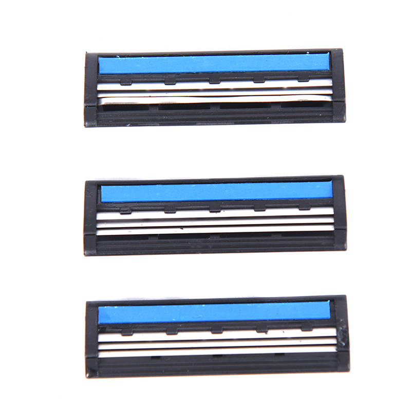 3Pcs/Set Stainless Steel 3 Layer Shaver Razor Blades Tool Safety Head Shaver Beard For Men Manual Face Care Beard Remove