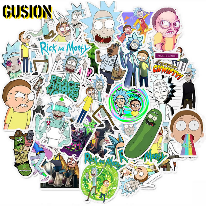 10/30/50pcs/Pack Cartoon Rick And Morty Stickers Skateboard Suitcase Laptop Luggage Waterproof Graffiti Sticker Kids Reward Toys