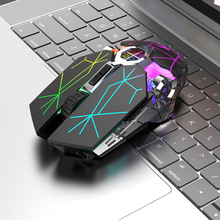 X13 2.4G Wireless Gaming Mouse 6 Button 2400DPI USB Rechargeable Mute Backlight Mice