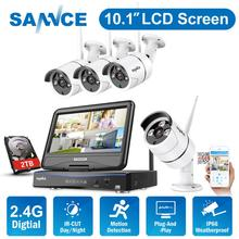 SANNCE 2MP 1080P CCTV System 8CH HD Wireless NVR Kit with 10.1'' LCD Screen Night Vision 4pcs IP Wifi Camera Security System цена