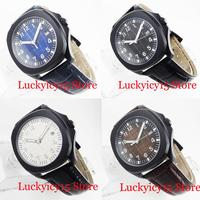 Nologo PVD Mechanical Men Wristwatch Date Window Sapphire Crystal 39mm Square Case|Mechanical Watches|   -