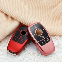 New TPU car key case for Mercedes Benz 2017 E Class W213 2018 S class SLC SLK Class E E200 E260 E300 E320 smart key case cover for mercedes benz 2017 e class w213 2018 s class car key shell protecor accessories silicone car key case cover carbon fiber