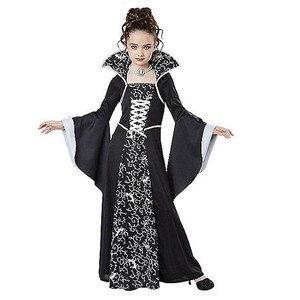 Image 3 - Kostium na Halloween straszny czarownica wampir Cosplay wydajność dla dzieci sukienka bal przebierańców wieczorne Party karnawałowe suknie balowe dla dziewczynki