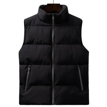Cotton Down Vest Men 2020 Winter Loose Waistcoat All-Match Jacket Padded Sleeveless Gilet
