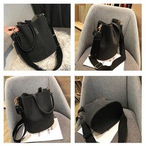 Image 5 - Torba damska torba na ramię o dużej pojemności Vintage matowy PU torebka damska skórzana luksusowy projektant Bolsos Mujer czarny