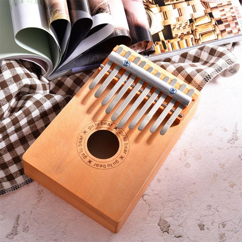Finger Piano Kids 10 Keys Wooden Thumb Finger Piano Kalimba Musical Instrument