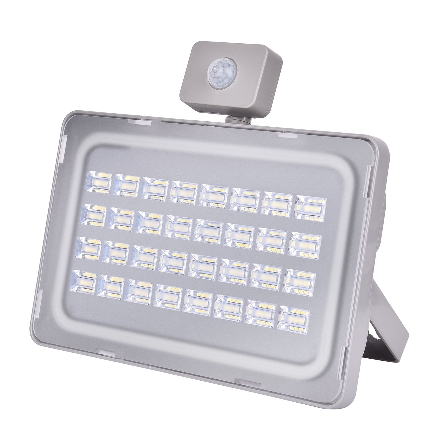 2017 New Led Flood light Motion Sensor 100W 110V 220V Led Floodlight Reflector Waterproof PIR Projector Lamp Outdoor Lighting