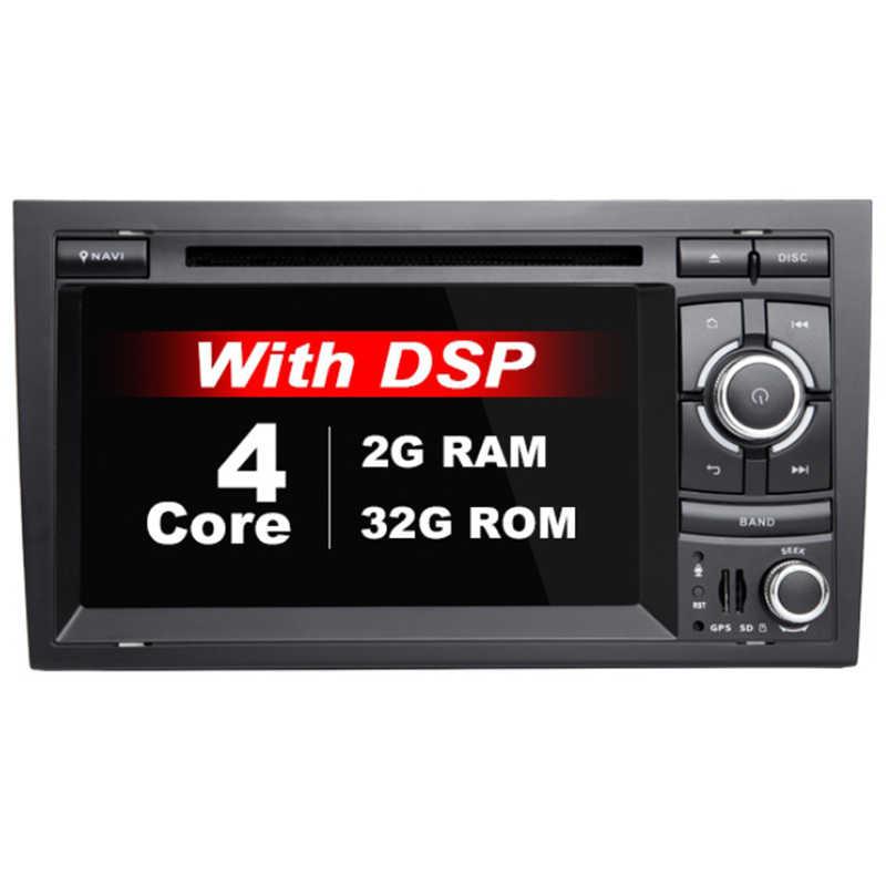 Coche Multimedia DVD 2Din Android 9,0 Autoradio para Audi A4 B6 B7 S4 B7 B6 RS42002-2008 RS4 B7 SEAT Exeo navegación por GPS 2008-2012