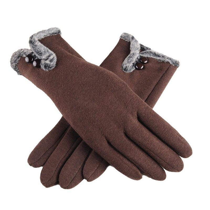 Gants d'hiver chauds en velours coton pour femmes