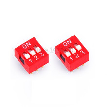 10PCS High Quality DIP Switch 3 bit Way 2.54mm Slide Type Switch 3 Position