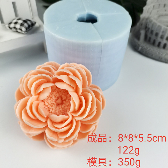 A bouquet of violets 3D silicone mold for soap candles gypsum chocolate Kawaii molds Soap molds Flower molds