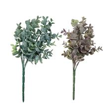 Fashion 1Bouquet Artificial Eucalyptus Fake Leaves Plant Wedding Party Home  Lifelike Beautiful Decoration Plants