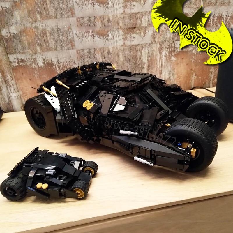 The Ultimate Batmobile Brick 7144 Decool Model Building Blocks DC Movies Creative Car 7124 7143 Lepinblocks 76139 1989 Batmobile